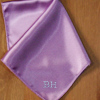 Pocket Square Personalised Lilac Satin Handkerchief