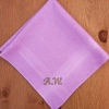 Mens Personalised Handkerchief Lilac Cotton Hanky