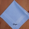 Mens Handkerchief Light Blue Cotton Hanky