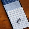 Personalised Blue Chequered Hankies