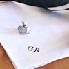 Monogrammed Handkerchief Gents White Cotton Handkerchief