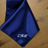 Navy Satin Handkerchief