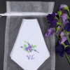 Purple Flower Spray Personalised Hanky