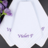 Personalised Handkerchiefs Ladies Gift Set of 3 Cotton Hankies