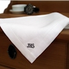 Mens Handkerchief Irish Linen Punch Hem Handkerchief Monogrammed