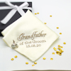 Personalised Wedding Handkerchief Cream Cufflinks Gift Set