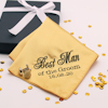 Personalised Wedding Handkerchief Gold Cufflinks Gift Set