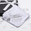 Personalised Wedding Handkerchief Silver Cufflinks Gift Set