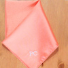 Personalised Pocket Square Coral Satin Handkerchief