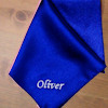 Royal Blue Satin Handkerchief
