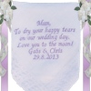 Poem Embroidered Handkerchief