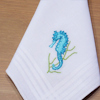 Seahorse Handkerchief Kids or Ladies Gift Hankies