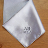 Embroidered Silver Satin Hanky
