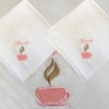 Ladies Handkerchief Tea Cup Cotton Hankie
