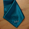 Teal Satin Handkerchief