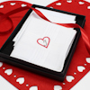 Heart Handkerchiefs Love Monogram Hankies Gift Set