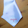 Pocket Square Personalised White Satin Handkerchief