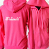 Personalised Womens Hoodie Pink Ladies Embroidered Sweatshirt