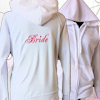 Personalised Brides Hoodie Ladies Embroidered White Sweatshirt