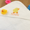Personalised Hooded Baby Towel Duckling Embroidered Bathing Towel
