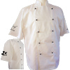 Short Sleeved Chefs Jacket Embroidered
