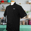 Personalised Chefs Jacket Short Sleeve Black Chefs Tunic
