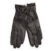 Black Leather Medium Gloves