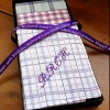 Mens Personalised Handkerchiefs Lilac Chequered Set of 3