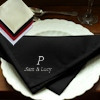 Black Dinner Napkins Personalised Black Cloth Napkin