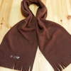 Personalised Scarf Brown Fleece with Tassels