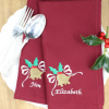 Holly Bells Personalised Napkins Set