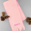 Childrens Pink Scarf Girls Personalised Scarf