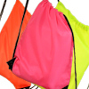 PE Gym Bag Personalised Hi Vis Fluorescent Pink Sack