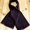 Childrens Black Scarf Kids Personalised Scarf