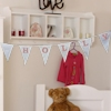 Personalised Bunting Embroidered Cotton Bunting Decoration