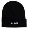 Personalised Beanie Cuffed Hat Black