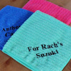 Personalised Microfibre Cloth Embroidered Cleaning or Car Cloth