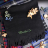 Personalised Scarf Black Fleece Winter Scarf