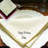 Personalised Cloth Napkins Large Luxury Cream Dinner Napkin