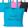 Teal Blue Cotton Tote Bag