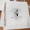 Personalised Wedding Napkins Bride Groom Embroidered Cloth Napkin