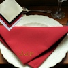 Embroidered Cloth Napkins Burgundy Dinner Napkin