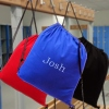 Cotton Drawstring Bag Royal Blue School Swim or Gym Bag Personalised