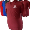 Customised Polo Mens Personalised Burgundy Polo Shirt