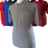 Mens Grey Polo Shirt Custom Embroidered