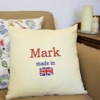 Personalised Cushions Custom Flag Embroidered Cushion