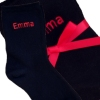 Personalised Socks Ladies Black Socks