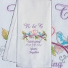 Anniversary Tea Towel Love Birds Embroidered Gift