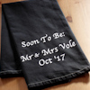 Anniversary Gift Towel Black Tea Towel