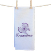 Personalised Tea Towel Butterfly Embroidered Towel